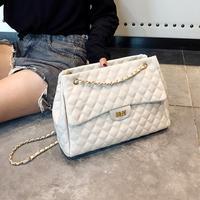 a7f8e8648 2018 PU Leather Handbags Women S Designer Handbag The Big Women S Lattice  Lock Shopping Bag