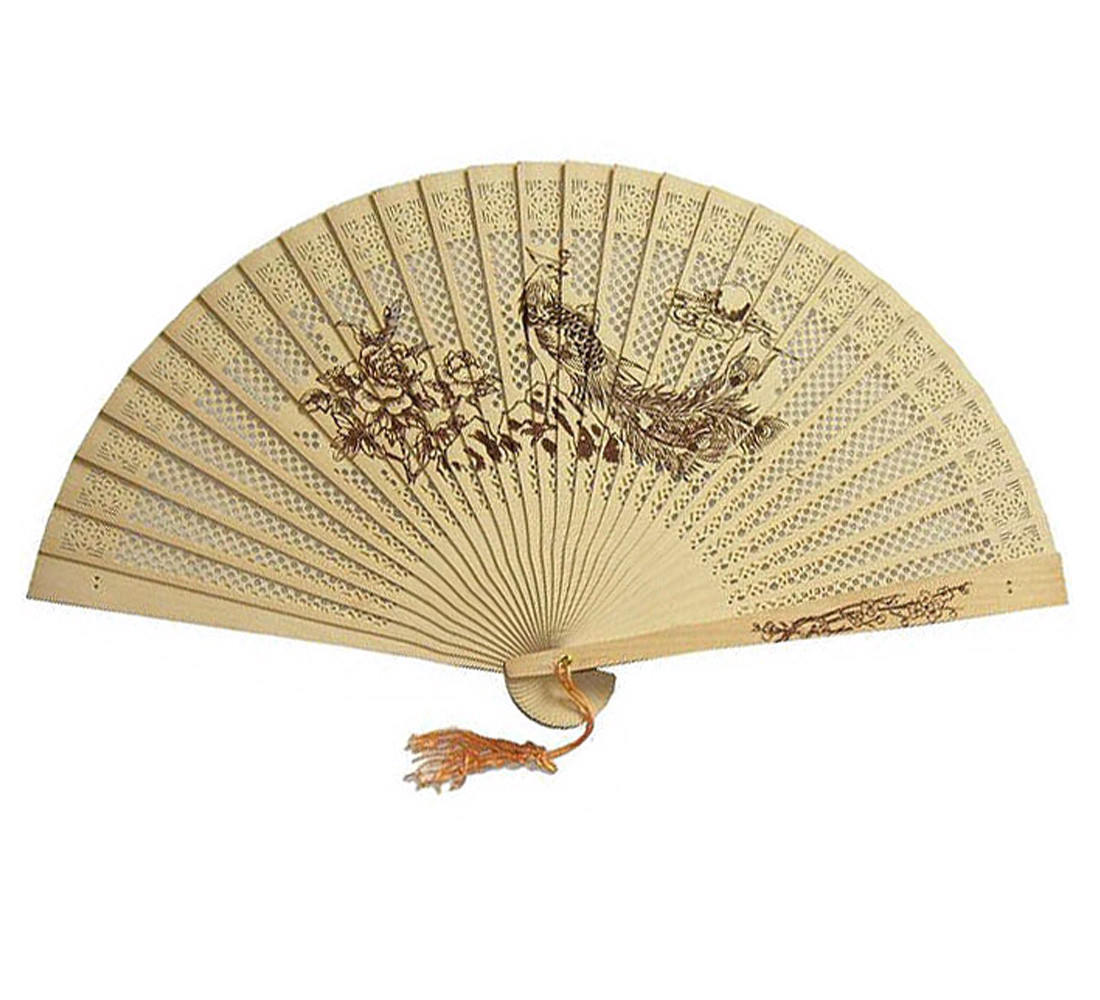 Decorative Fans Wooden 1PC Chinese Traditional Hollow Fan Made ...