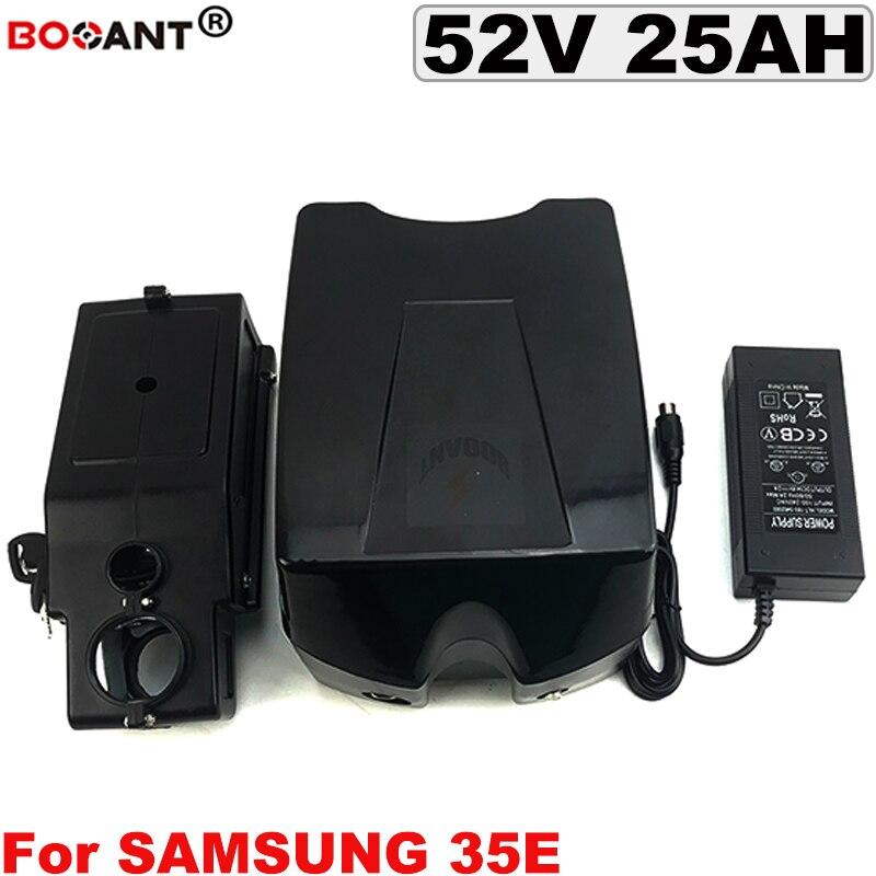 52V 25AH electric bike lithium battery for Samsung 35E 18650 cell 14S 52V E-bike battery for Bafang 500W 1000W Motor +2A Charger