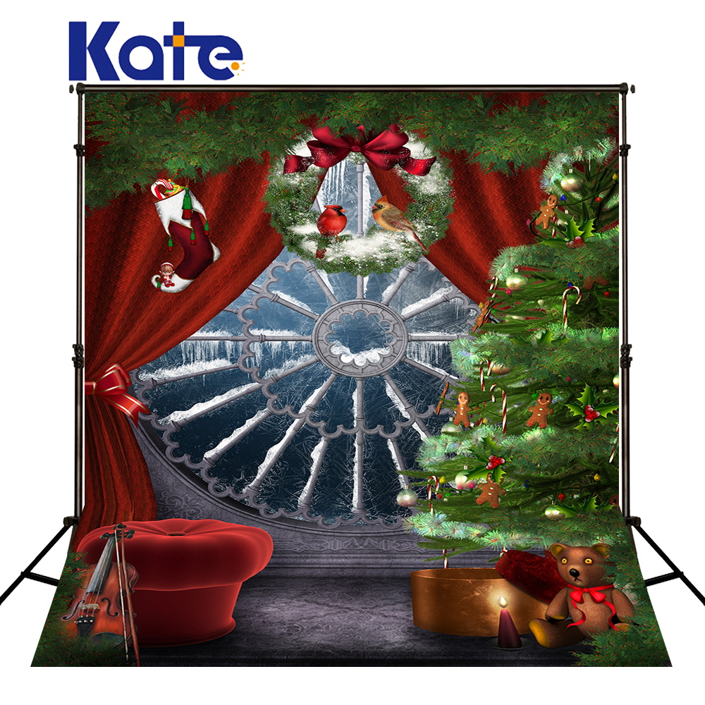 KATE Photo Background Christmas Backdrop Christmas Photo Backdrop Window Background Red Curtains Turkey Decorations For Home сумка kate spade new york wkru2816 kate spade hanna