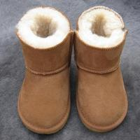 Children Boots Thick Warm Shoes Cotton Padded Suede Buckle Boys Girls Snow Boots Kids Waterproof Real