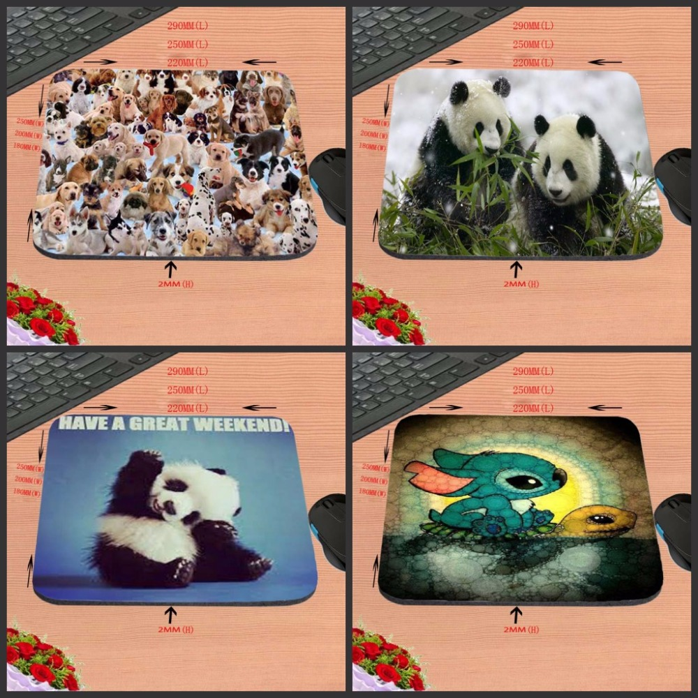 Cute Lovly The Cat The Dog The Panda  Style Anti-slip Mousepad Computer Gaming Mouse Pad Mat For Optal Me Trackball Mouse