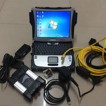 for bmw diagnostic icom next with software expert mode 500gb hdd cf19 toughbook computer cables full set ready to use