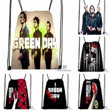 Custom Green Day  Drawstring Backpack Bag Cute Daypack Kids Satchel (Black Back) 31x40cm#180531-04-40