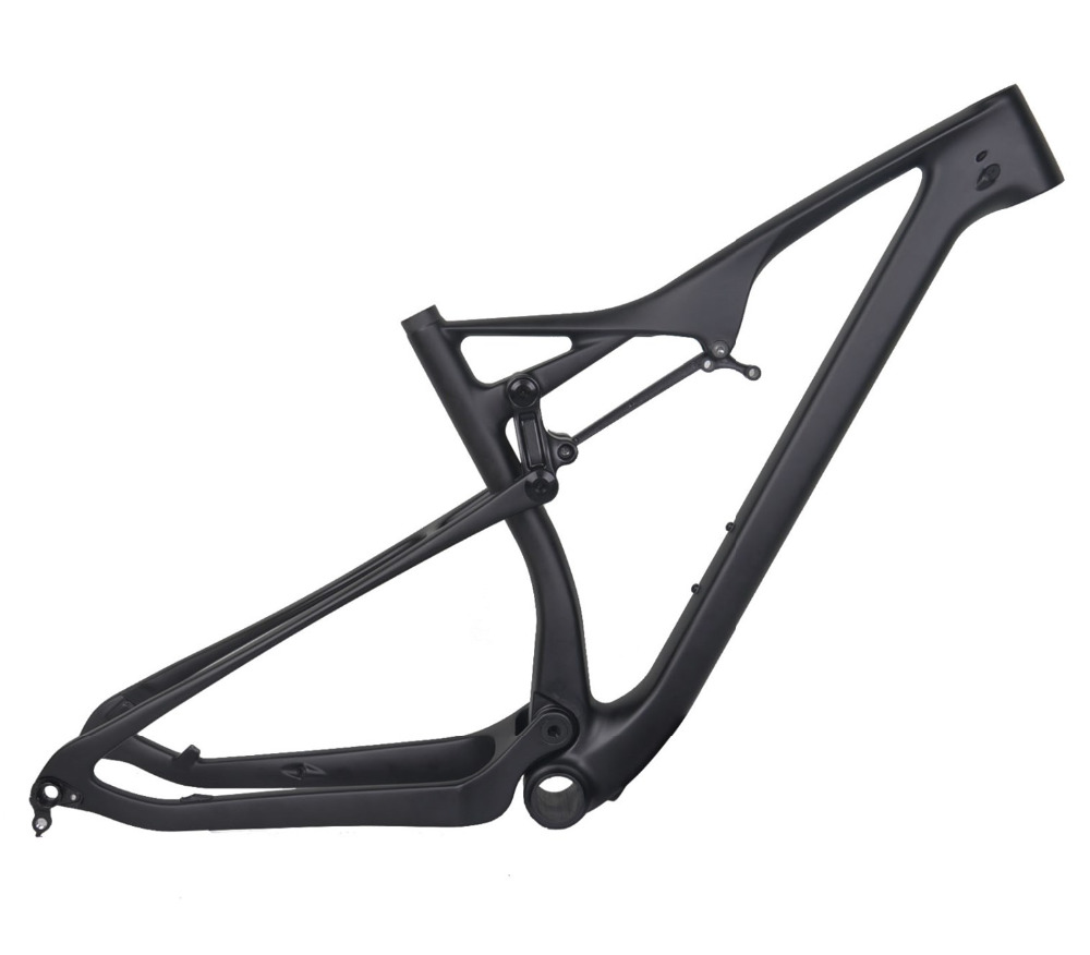 new eps made china 29 inch full suspension mountain bike frame ud matt bb92 carbon fiber mtb frame thru axle version 175 size