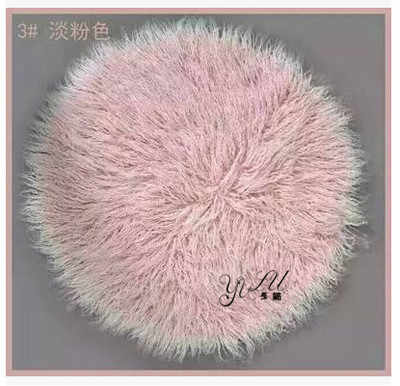 Round 80*80CM Newborn Photography Props Blankets,Soft Plush Baby Blanket Basket Stuffer,Faux Fur Fotografia Background