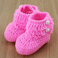 Loops Design Baby Booties Crochet Pattern Baby First Walker Shoes Infant Knitted Snow Boots 6 Colors 5pairs XZ0025