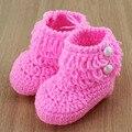 Patrón Loops Diseño Botines Del Bebé Del Ganchillo Primer Caminante Del Bebé Zapatos de Bebé de Punto Botas de Nieve 6 Colores 5 pairs XZ0025