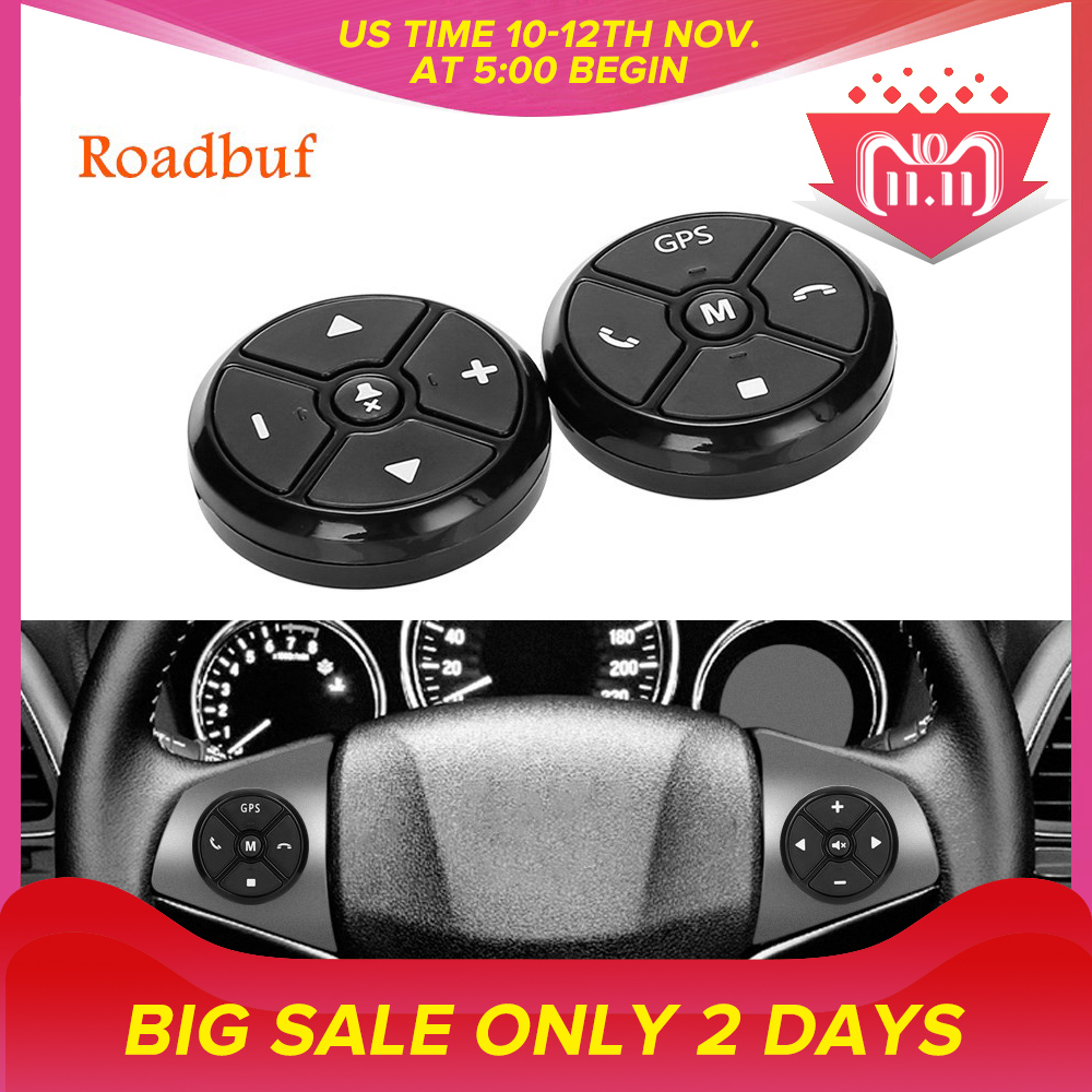 Universal Car Steering Wheel Control Key Music Wireless DVD GPS Navigation Car Steering Wheel Radio Remote Control Buttons Black цена 2017