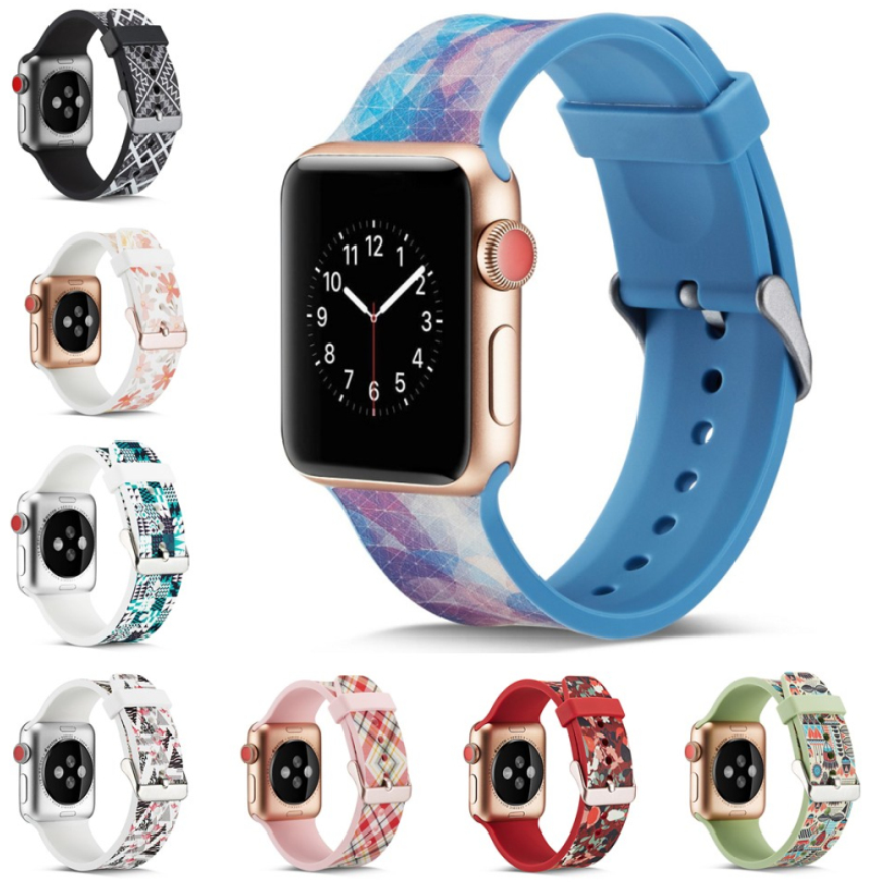 NEW Colorful Soft Silicone Replacement Sport Band For Apple Watch Series 1/2/3/4 42mm 38mm Wrist Bracelet Strap 40mm 44mm Sports colorful soft silicone for iwatch sport band replacement watch strap for apple series 1 2 3 4 watch bands 38mm 42mm 40mm 44mm