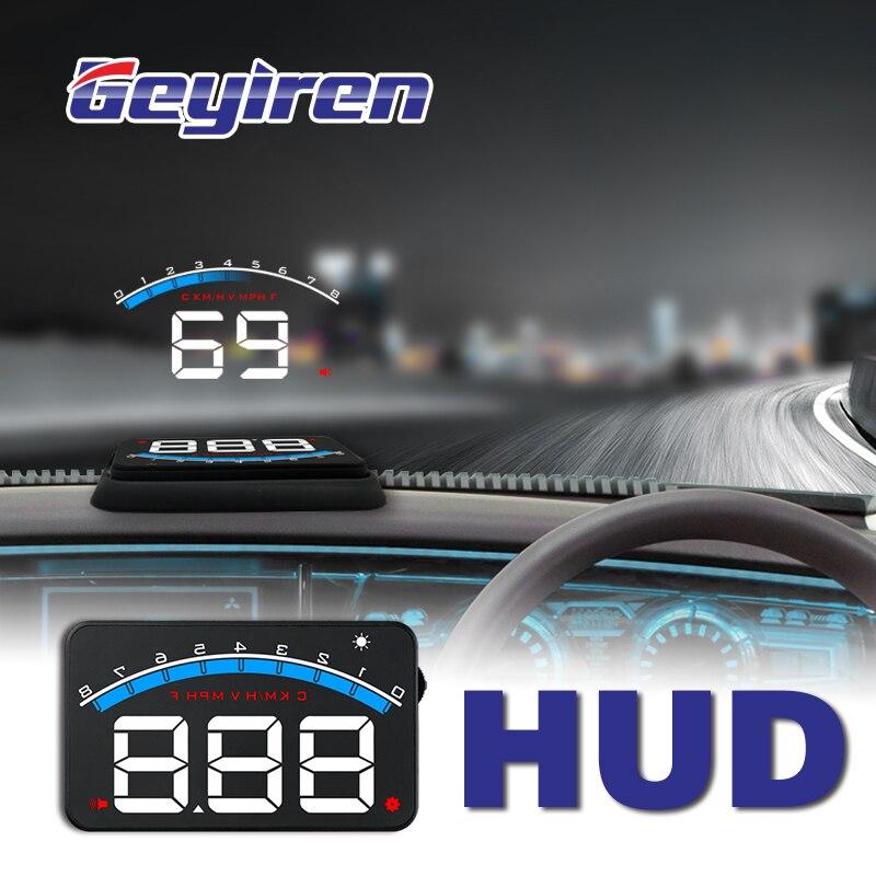 GEYIREN Novo M6 HUD Cabeça Up Display para Carro-styling Exibição Hud Excesso de Velocidade Aviso Brisa Projetor Sistema de Alarme Auto Universal m6