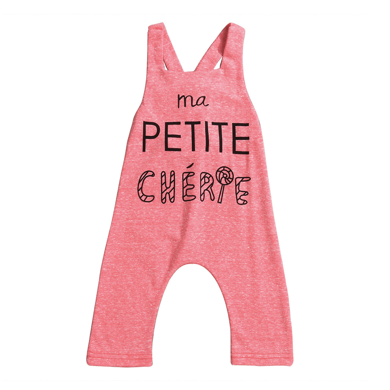 Hot Sales 2017 Newborn Baby Kids Girl Sleevless Pink Romper Jumpsuit