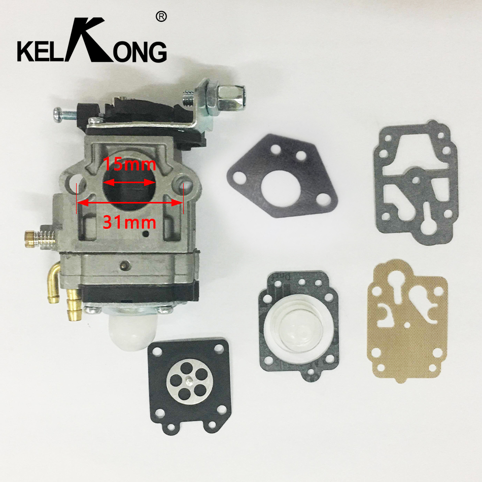 KELKONG Cls Carb Carburetor 43cc 47cc 49cc 5cc 2-Stroke Carburetor Mini Choppers Carb 15mm ATVs Pocket Bikes Quad Drop Shipping