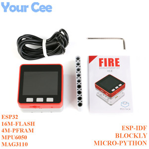 Image 1 - M5Stack PSRAM 2.0 FIRE IoT Kit Dual Core ESP32 16M FLash+4M PSRAM Development Board MIC/BLE MPU6050+MAG3110 of Micropython ZK5