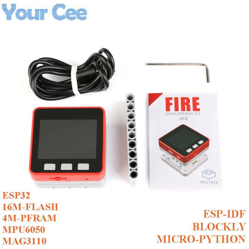 M5Stack PSRAM 2.0 Kit feu IoT double coeur ESP32 16M-FLash + 4M-PSRAM carte de développement MIC/BLE MPU6050 + MAG3110 de Micropython ZK5