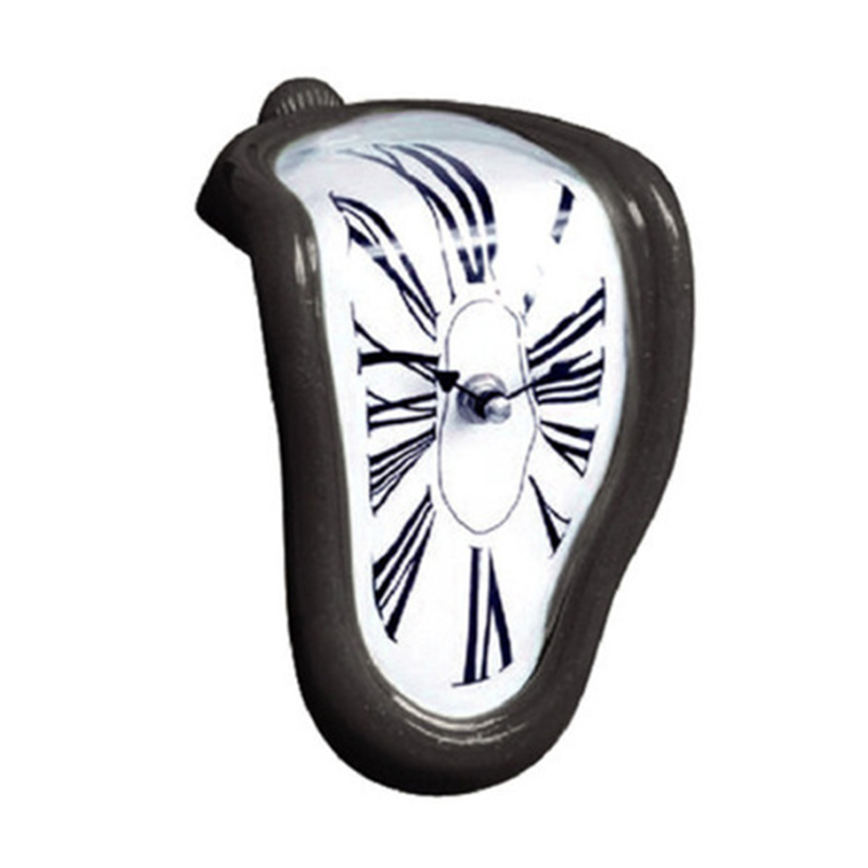Modern Design Surrealist Salvador Dali Style Wall Clock Novel Surreal Melting Distorted Wall Clock Amazing Home Decoration