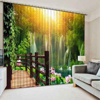 decorative curtains Luxury Blackout 3D Curtains For Living room Bedding room Office balcony curtains