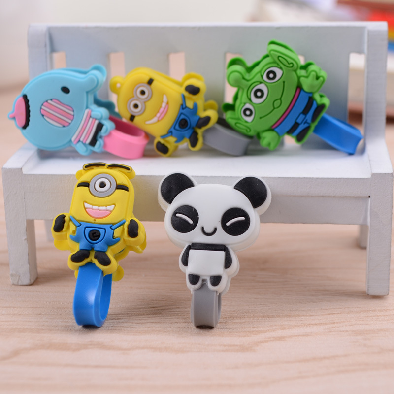 200PCS Cute Stitch/minions Earphone Heaphone Cable Winder USB Data cable Organizer Cord Holder For Iphone Ipad Mp5 Multi-styles