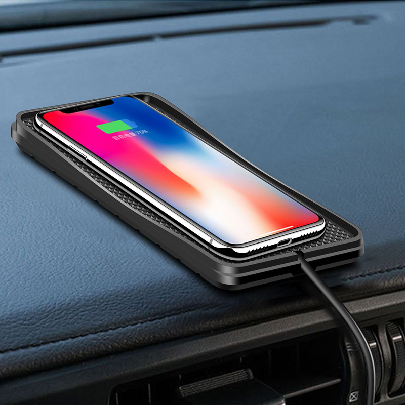 10W 7.5W 5W Car Charger QI Wireless Charger Wireless Charging Dock pad for samsung s9  Fast phone charger for iPhone X 8plus XR-in Car Chargers from Cellphones & Telecommunications