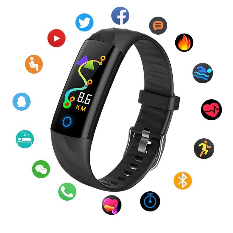 Bangwei Astuto Della Vigilanza Del Braccialetto Pedometro Frequenza Cardiaca Monitor di Ossigeno Nel Sangue Per Il Fitness Tracker Intelligente Wristband di Sport Impermeabile orologi