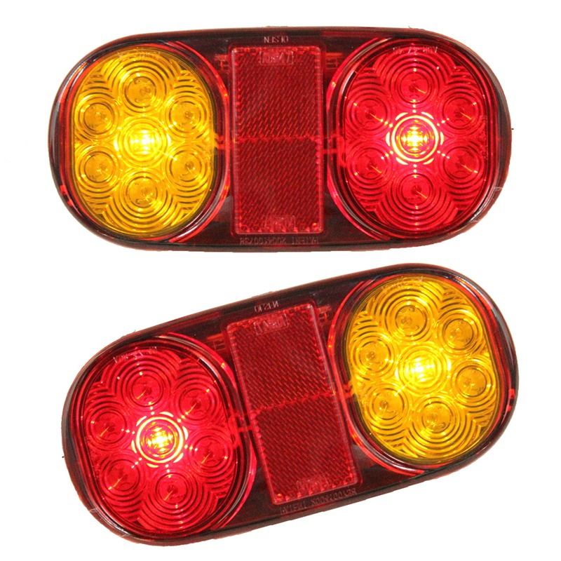 2x Car Truck Tail Light Warning Lights Rear Lamps Waterproof Tailights For Trailer Jet Ski Boat Ute Submersible No/Plate maluokasa 2x 46 led car truck tail light rear lamps waterproof taillights rear turn indicator license plate lights for trailer