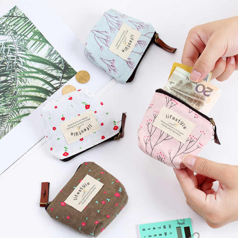 Fashion woman Napkin Bag Coin Purse Holder Organizer Storage Bags Zipper wallet Travel Key Towel Pouch Pad Cute Canvas Bag