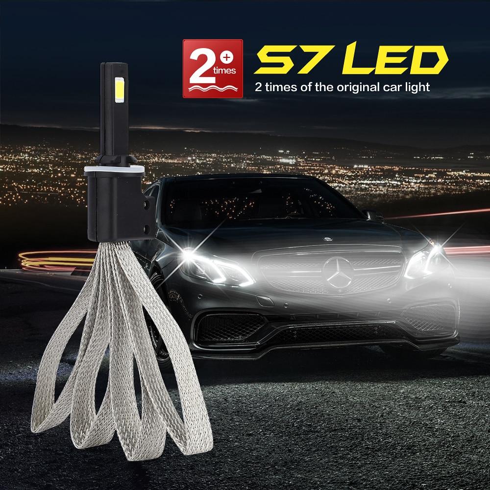 цена на H1 H4 H7 H27 H3 HB3 HB4 H11 H13 9004 9007 LED Super Bright Car Headlight Bulbs 60W 6400lm 6000K S7 Auto Headlamp Fog Light IP68