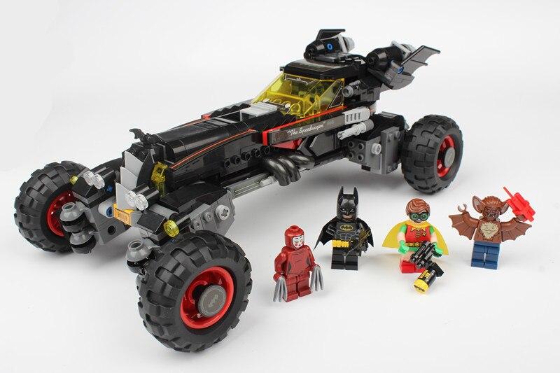 Bela 10634 Batman Movie Batmobile Features Robin Man-Bat Kabuki Twins 70905 Building Block Toys Compatible With Legoings Batman china brand bricks toy diy building blocks compatible with lego batman movie the batmobile 70905