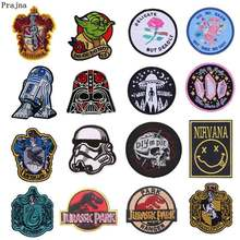 Prajña 10 stks Star Wars Geborduurde Patch Logo Dinosaurus Iron On Applicaties Voor Kleding Alien Punk Patches Jeans Hippie Accessoire(China)