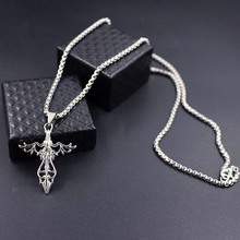 цены Angel Wings Hanging Necklace Hip Hop Chain Necklaces Pendants Punk Rock Men Jewelry Gifts xlct021