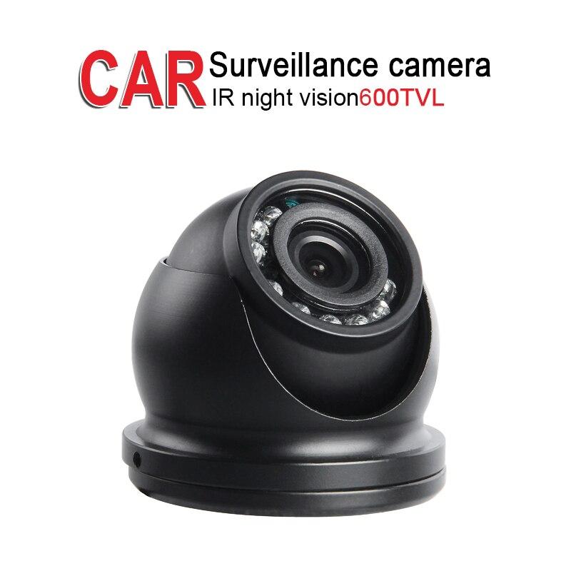 Mini Ceiling Metal Vehicle Camera,DV12-24V,600TVL,IR Night Vision CCD For Bus Truck Vans Boat Camera Surveillance Security