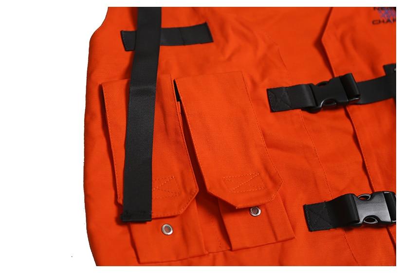 carga colete com bolsos jaqueta militar 2018
