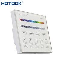 2,4G Mi светильник светодиодный контроллер RGBW Беспроводной RF сенсорный пульт дистанционного управления 4 зоны светодиодный настенный выключа...