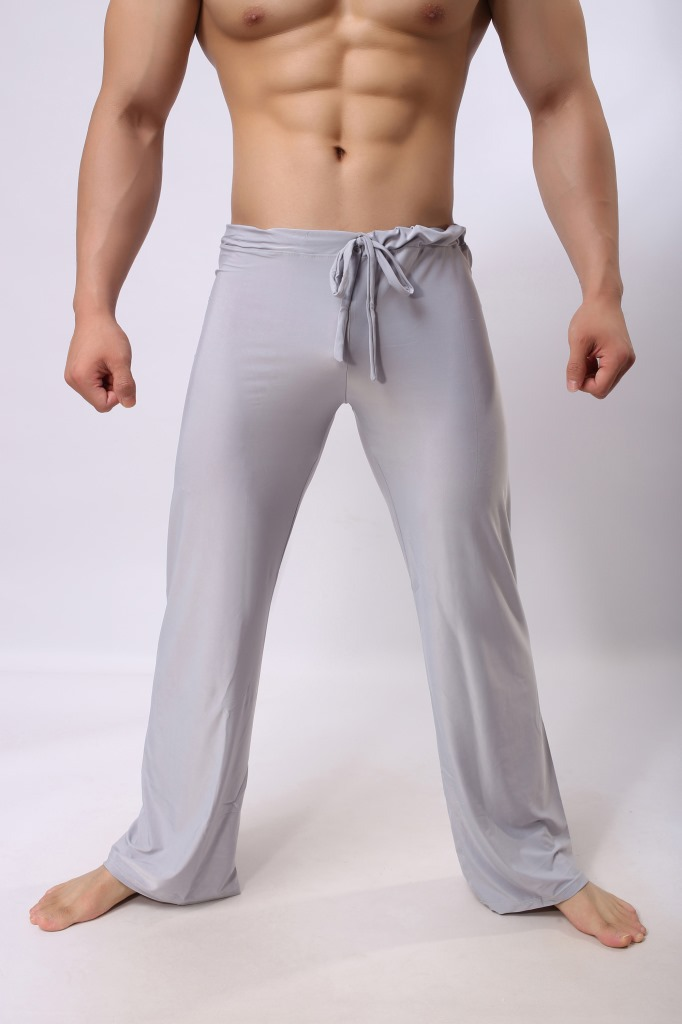 Brand Man Long Pant Sleepwear Comfy Breathable Slip Mans Sleep Bottoms Men's Casual Trousers Homewear Pants Pajama Loose Solid