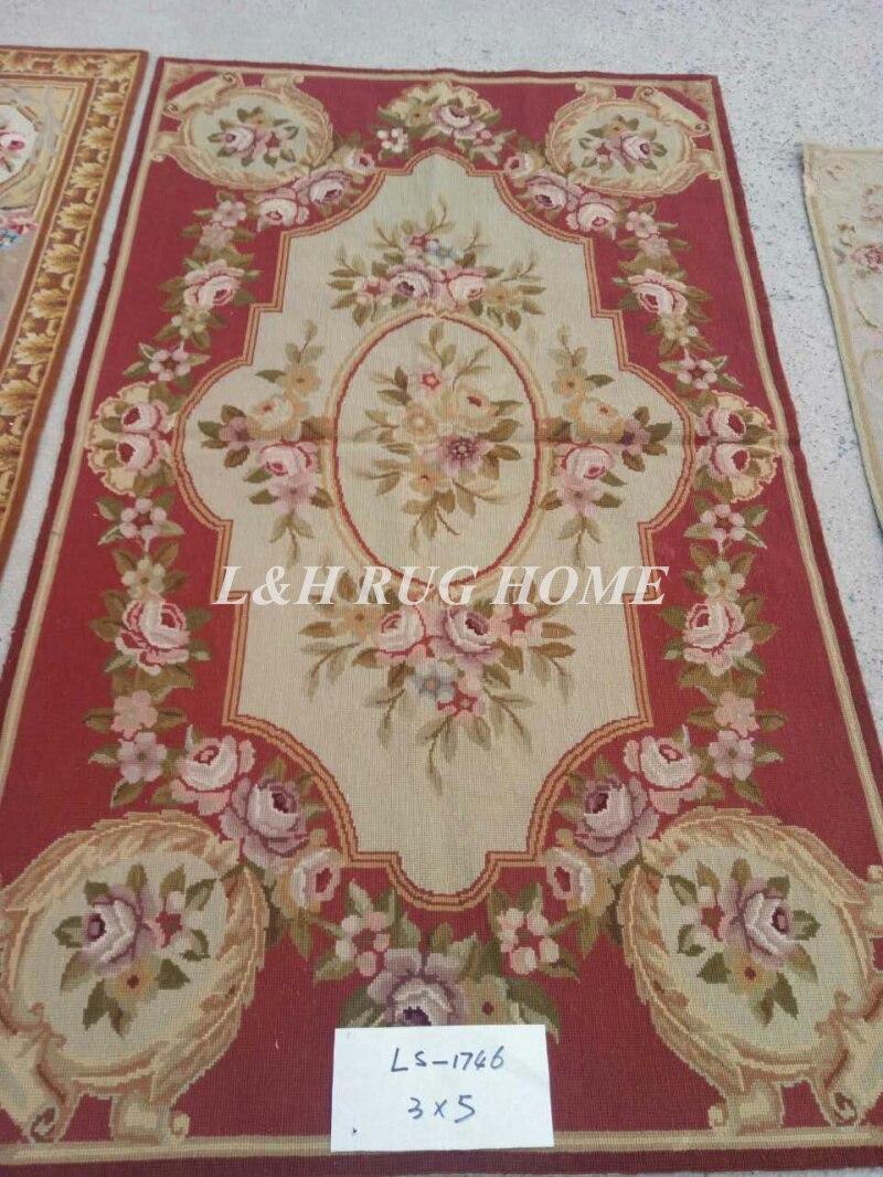 Livraison gratuite 3'x5 'tapis à l'aiguille 100% nouvelle-zélande laine tapis faits à la main pour la décoration de la maison