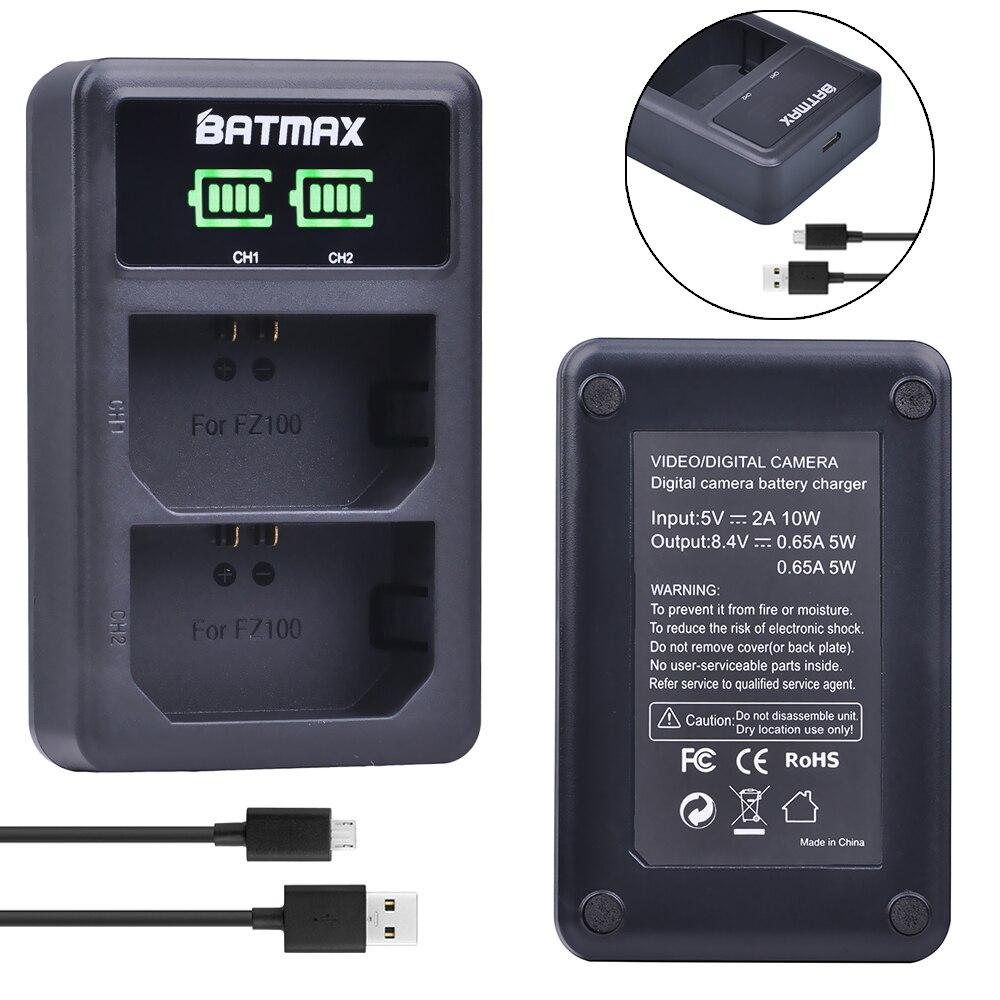 1 unid NP-FZ100 NP FZ100 LED Dual USB cargador de batería para Sony NP-FZ100... BC-QZ1 alfa 9 A9 alfa 9R Sony A9R Sony Alpha 9 s