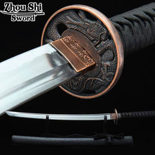 The New Katana Japan Samurai sword Gulong Knife Ngok Cool black wood sheath Home decor collectibles