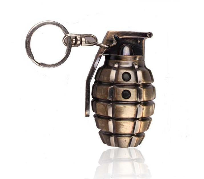 Simulation  Grenade Of Laser Keychain LED Lighting Mini Flashlight