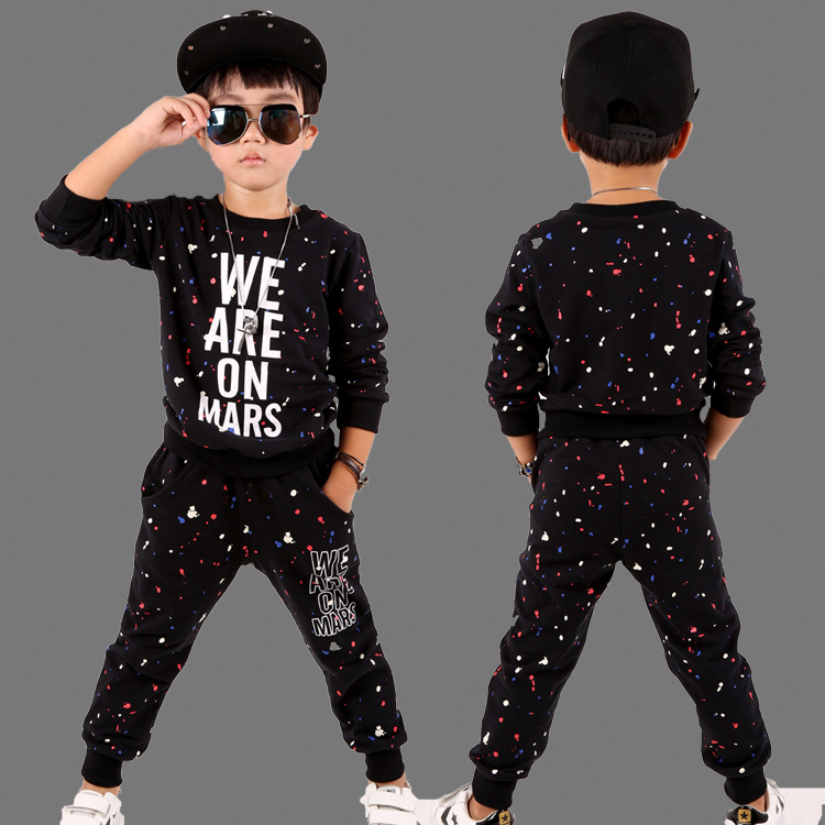 Spring AutumnKids Set Unisex Costumes We Are On Mars Camouflage Hip Hop dance Pants & Sweatshirts kids suits twinset 20113 diy lamp line on off switch black 2 pcs