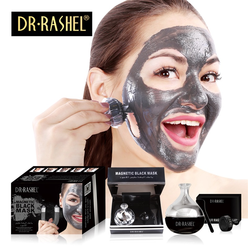 DR RASHEL   Hot Selling Black Magnetic Face Mask Skin Care Collagen Blackhead Remover Magnet  Mud  Facial  Mask 2017 electric facial natural fruit milk mask machine automatic face mask maker diy beauty skin body care tool include collagen
