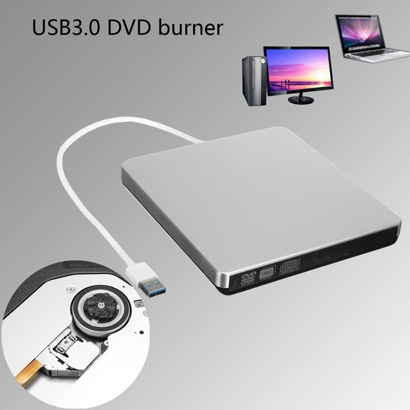 Externe USB3.0 DVD CD-RW Graveur Lecteur DVD Pour ordinateur portable/De Bureau PC Haute vitesse Lecteur DVD Pour Windows 7/8/10 Pour Mac