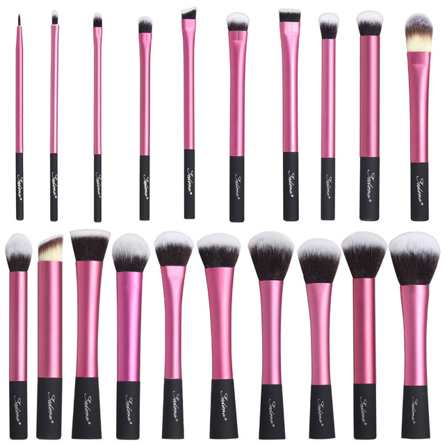 Sedona Incrível 20 Peças cabelo dense macio Rosa pincel de maquiagem conjunto completo de cosméticos Profissionais de Alta Qualidade para o presente