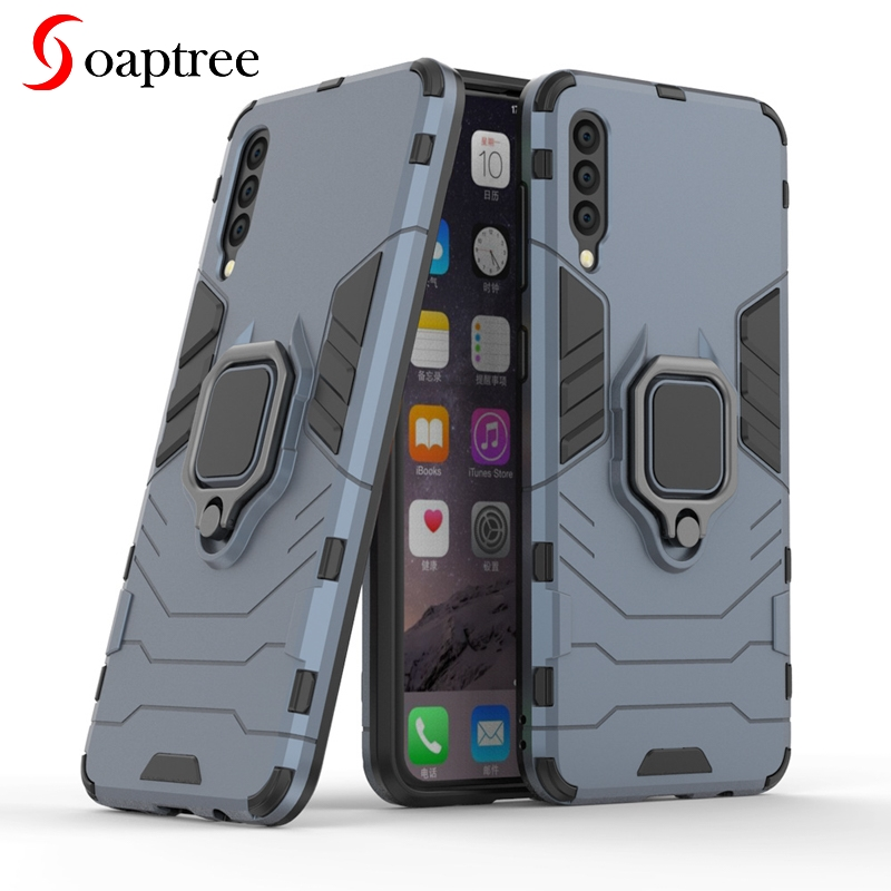 Armor Ring Case For Samsung Galaxy A50 Case Magnetic Car Hold Soft Bumper Cover For Samsung A50 A 50 2019 SM-A505F A01 A70E image