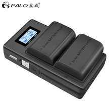 PALO 2 PCS lp-e6 digital battery + LCD display Comes with USB LP E6 batteries charger For Canon EOS 5D Mark IV 7D II 6D 70D