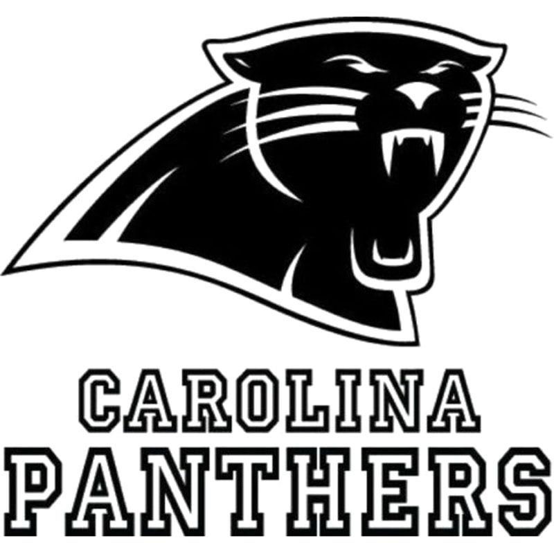 161 Cm 152 Cm Carolina Panthers Logo Nfl Decal Vinyl Auto