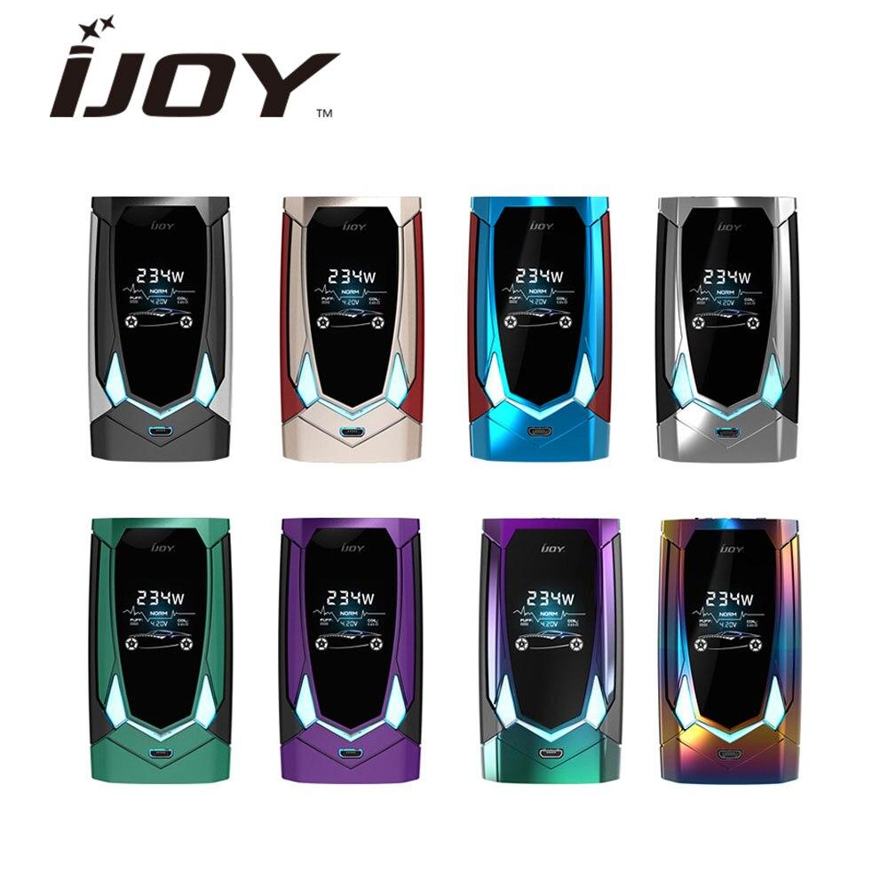 Original IJOY Avenger 270 boîte mod 234 W commande vocale avenger TC boîte MOD puissant 234 W sortie Compatible Ijoy avenger subohm réservoir