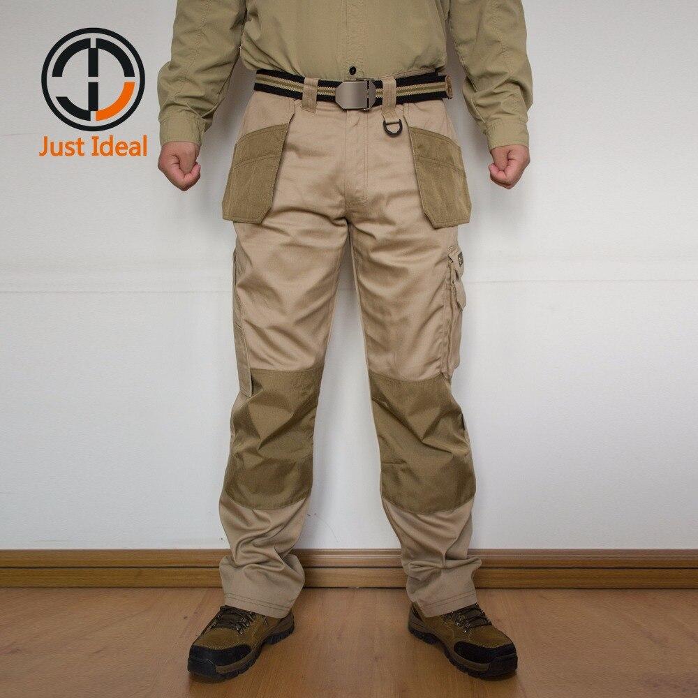 Для мужчин Брюки карго Повседневное мульти карман брюки Военная Униформа Тактический длинные брюки мужские рабочие брюки Большие размеры ... ...
