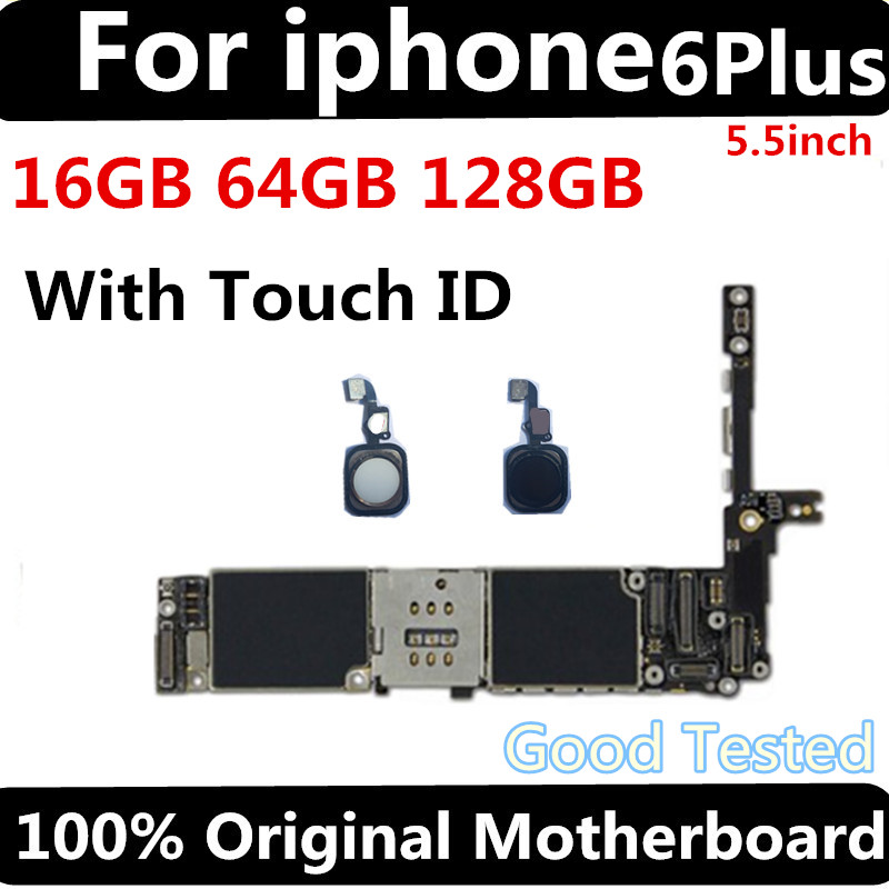 Factory unlocked motherboard for iphone 6 plus 16GB 64GB 128GB IOS logic board original Mainboard with touch ID for iphone 6Plus in Mobile Phone Antenna from Cellphones Telecommunications