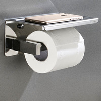 304 Stainless steel Sanitary Paper Toilet Paper Holder With Phone Shelf Self adhesive Roll Dispenser Bathroom Accessories