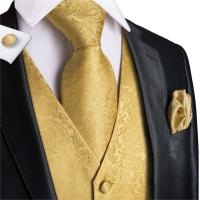 Mens Suit vest Wedding Stage Show Gold Shiny Sequins Waistcoat Yellow Suit Vest Gilet Homme Classic Gentlemen Vests VE 0009
